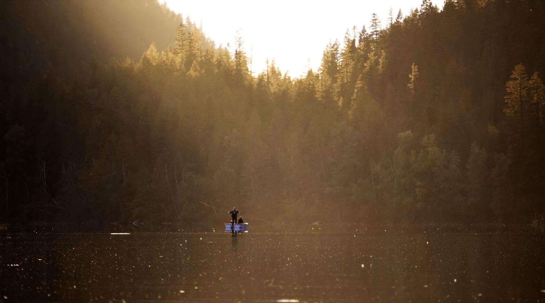 Fishing at Echo Lake Lumby BC